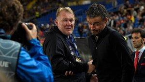Luis Enrique y Prosinecki coincidieron como jugadores y ahora como técnicos