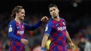 Luis Suárez espera celebrar más goles con Griezmann en Granada