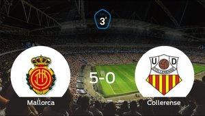 El Mallorca B muestra su poderío tras golear al Collerense (5-0)
