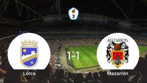 El Mazarrón FC logra un empate a uno frente al Lorca