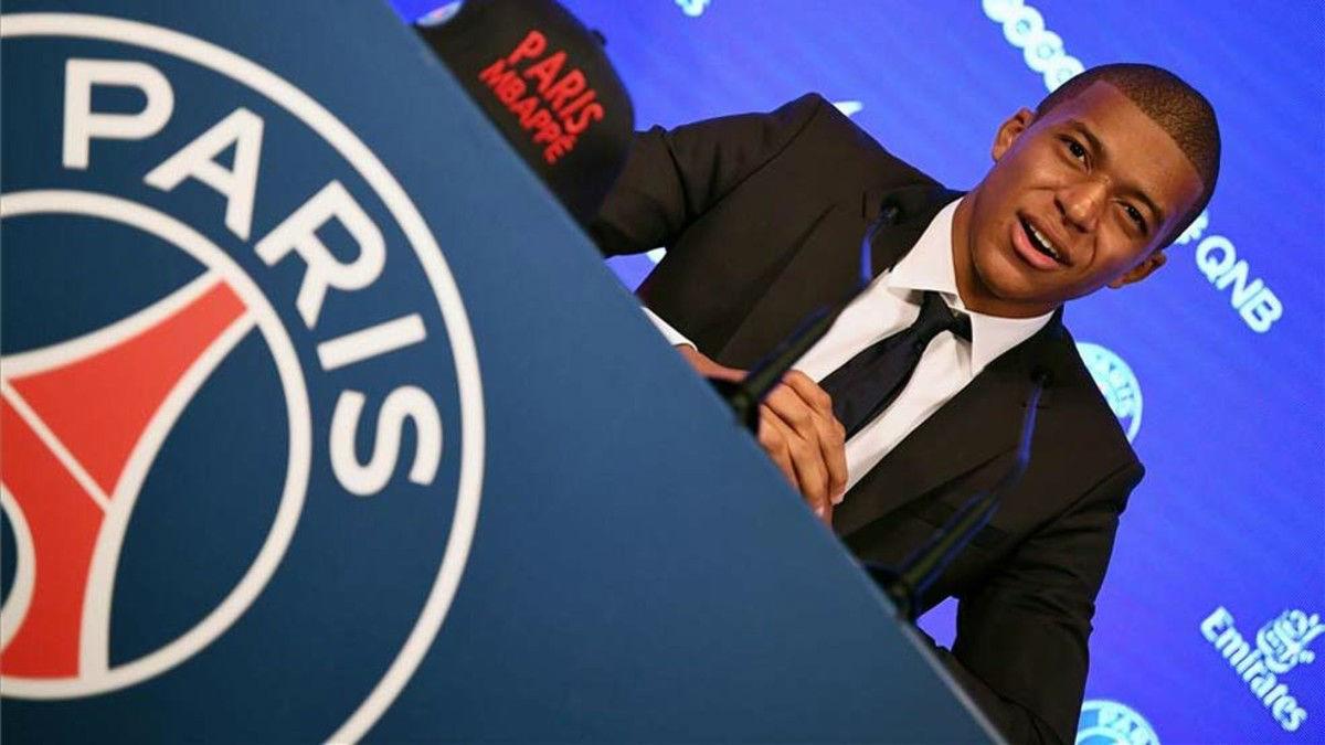 Mbappé, presentado con el PSG