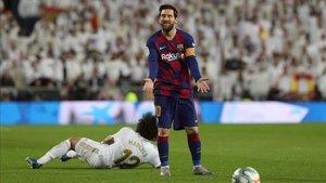 Messi no cuajó su mejor partido en el feudo blanco