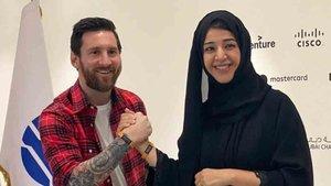 Messi ya se encuentra en Dubai