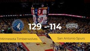 Minnesota Timberwolves logra la victoria frente a San Antonio Spurs por 129-114