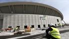 La obras del nuevo estadio colchonero siguen a buen ritmo