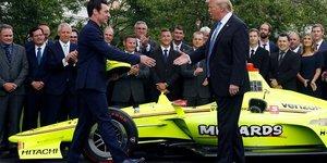 Pagenaud y Donald Trump en la Casa Blanca