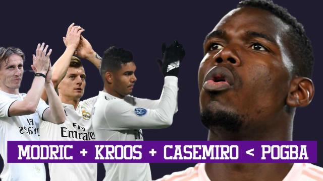Pogba, mejor que Modrid, Casemiro y Kroos juntos