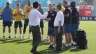 El presidente ha acudido a la ciudad deportiva