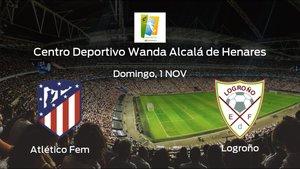 Previa del encuentro de la jornada 4: Atlético de Madrid Femenino contra Logroño Femenino
