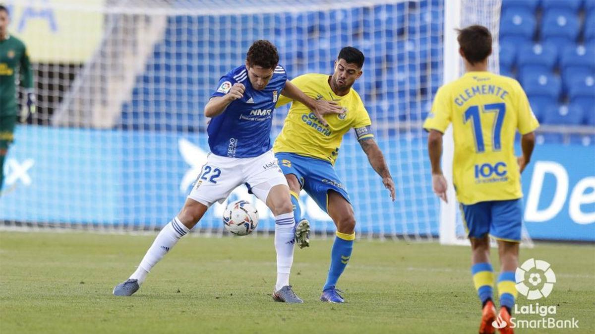 El Real Oviedo se queda con los tres puntos tras derrotar a Las Palmas