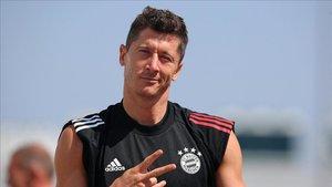 Robert Lewandowski, el goleador del Bayern, empieza la Bundesliga con hambre de tantos.