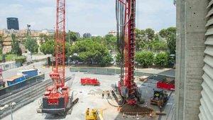 Siguen las obras preliminares en el Camp Nou