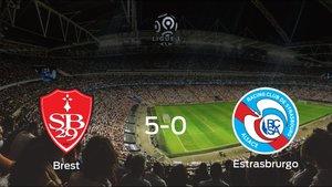 Tres puntos para el casillero del Brest tras golear al Racing Estrasbrurgo (5-0)