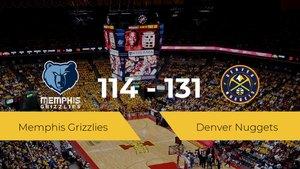 Victoria de Denver Nuggets ante Memphis Grizzlies por 114-131