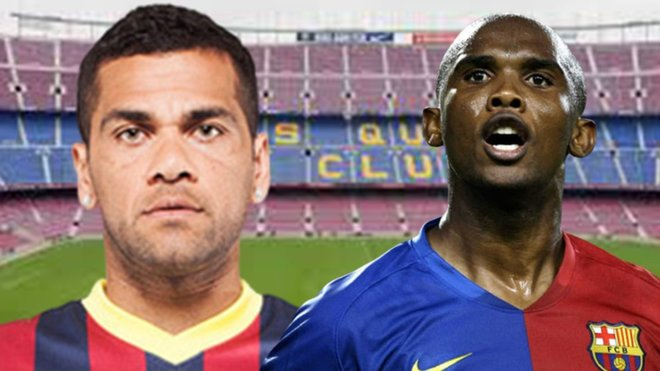 Dani Alves and Samuel Eto'o join Messi's rant about Barca