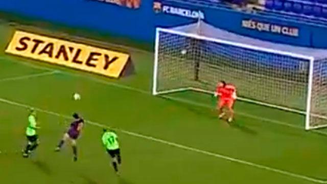 Aitana emula a Messi con este golazo de cabeza