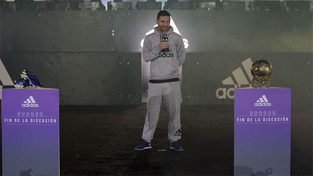 Así fue el acto de presentación de las nuevas botas de Messi