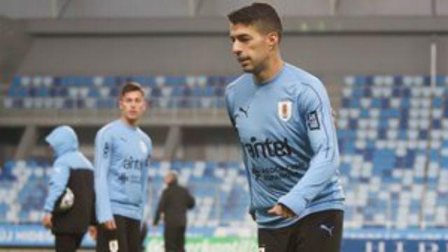 Así fue el entrenamiento de Uruguay... con Suárez