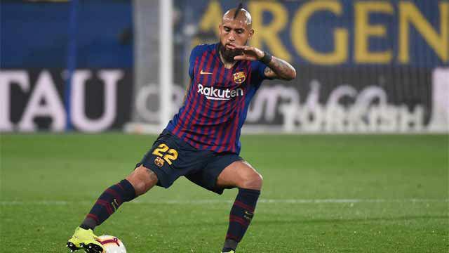 Asistencia perfecta de Arturo Vidal para el 0-2 de Coutinho
