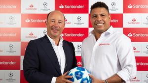 Banco Santander desembarca en la Champions con Ronaldo como imagen
