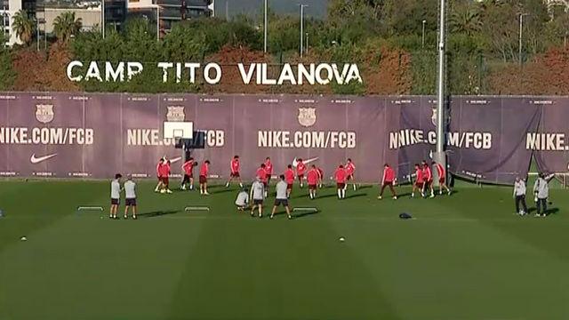 El Barça entrena sin Luis Suárez antes de recibir al Inter