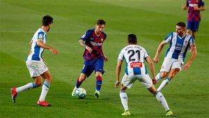 El Barça mandó al Espanyol a segunda
