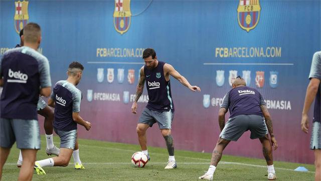 El Barça prepara el partido contra el Huesca