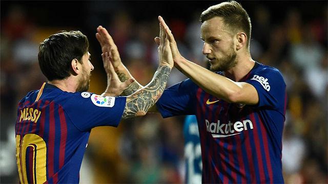 El FC Barcelona cedió un empate en Mestalla y pierde el liderato