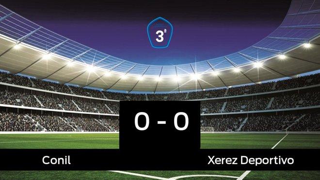 El Conil empató ante el Xerez Deportivo (0-0)