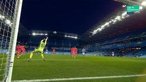 Courtois saco varios goles cantados a los jugadores del City