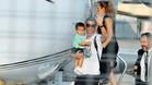 Cristiano llegó a Turín junto a su familia