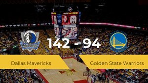 Dallas Mavericks gana a Golden State Warriors por 142-94