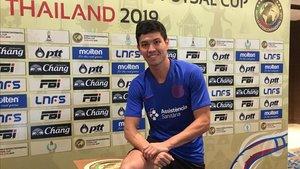 Daniel Shiraishi, en el hotel del equipo en Bangkok