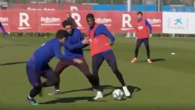 Dembélé ya aprende de Messi: la jugada perfecta que todos los culés querrían ver en el Camp Nou