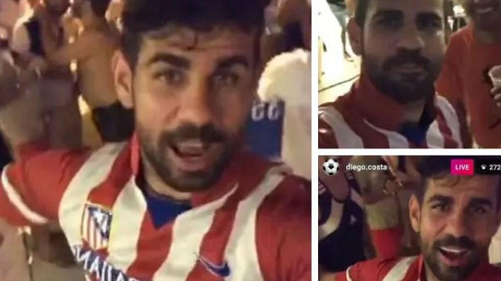 Diego Costa se viste del Atlético en su vídeo