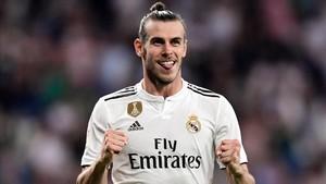 Gareth Bale celebrando su gol ante el Getafe en la primera jornada de liga