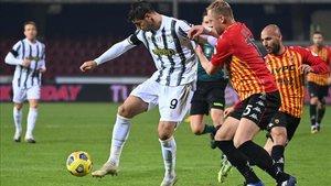 El gol de Morata ante el Benevento no sirvió para lograr los tres puntos (1-1)