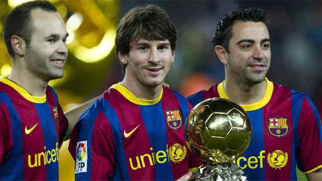 Iniesta: El podium del Balón de Oro con Messi, Xavi y conmigo, no tiene precio