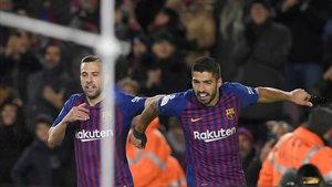 Jordi Alba y Luis Suárez, mejores asistentes de esta Champions