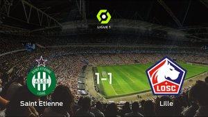 El Lille OSC logra un empate a uno frente al AS Saint Etienne