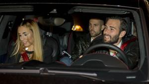Los jugadores del Barça llegaron a la fiesta de Neymar