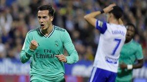 Lucas Vázquez celebra el 0-2 con el que rompió la eliminatoria en favor del Real Madrid