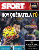 Luis Suárez, en la portada de SPORT