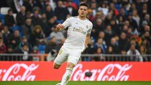 Luka Jovic con el Real Madrid