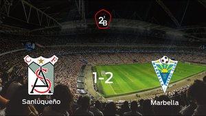 El Marbella se lleva tres puntos tras derrotar 1-2 al At. Sanluqueño
