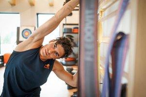 Marc Márquez, entrenando en el gimnasio
