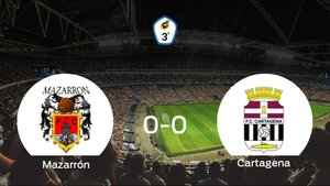 El Mazarrón FC y el Cartagena B no encuentran el gol y se reparten los puntos (0-0)