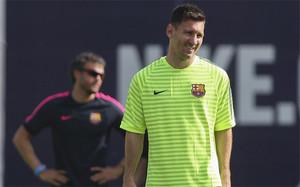 Messi y Luis Enrique, en una foto de archivo