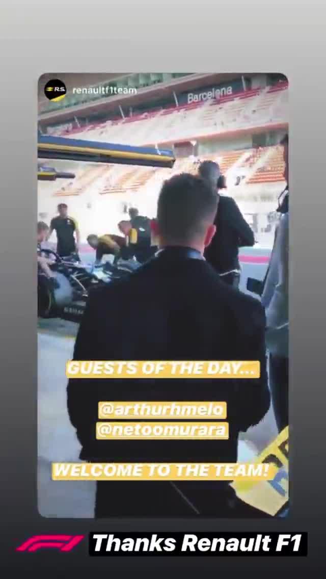 Neto y Arthur, invitados especiales en el Circuit de Catalunya