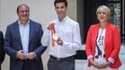 Pedro Antonio Sánchez y Noelia Arroyo recibieron al atleta Miguel Ángel López